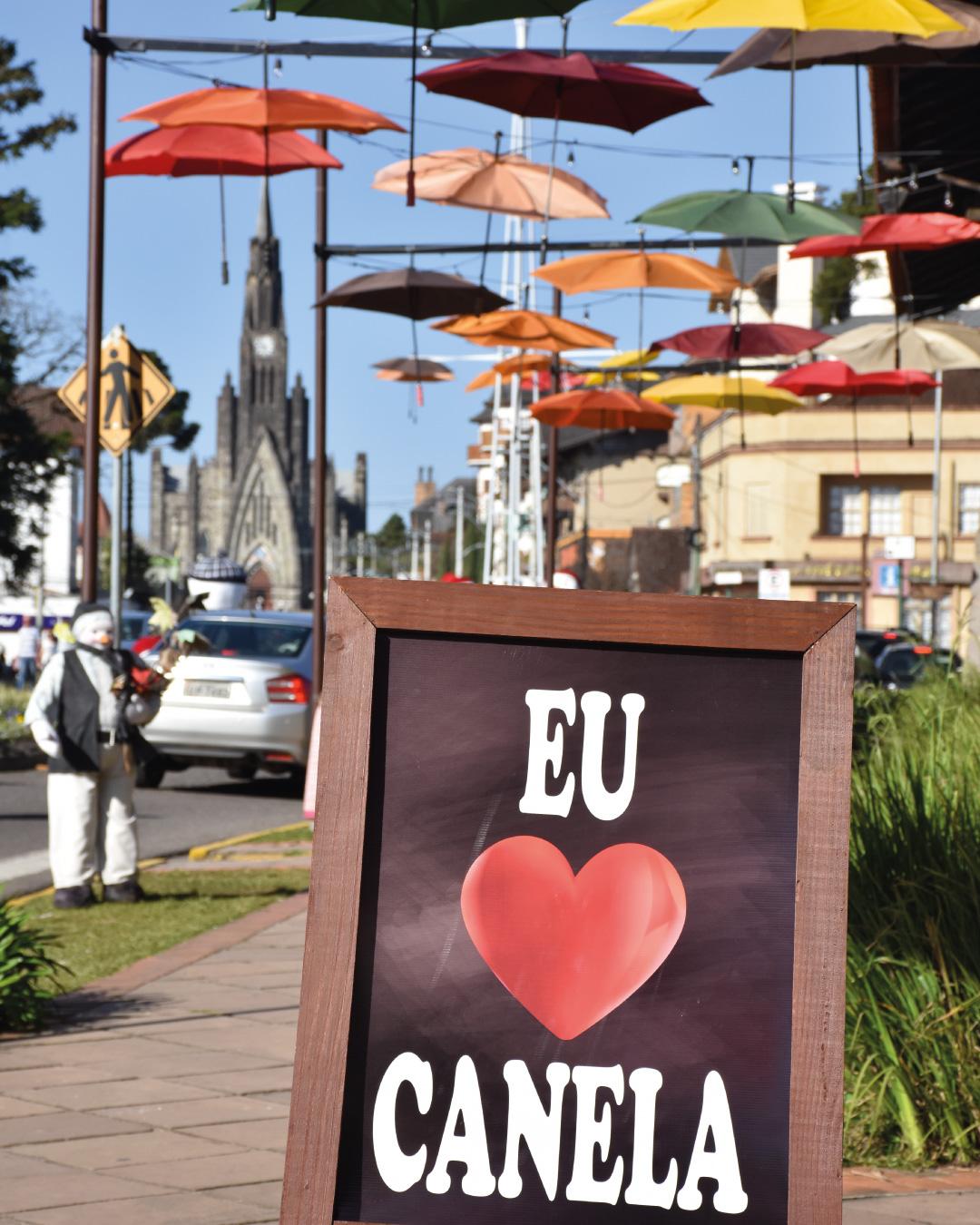 Centro da cidade de Canela/RS